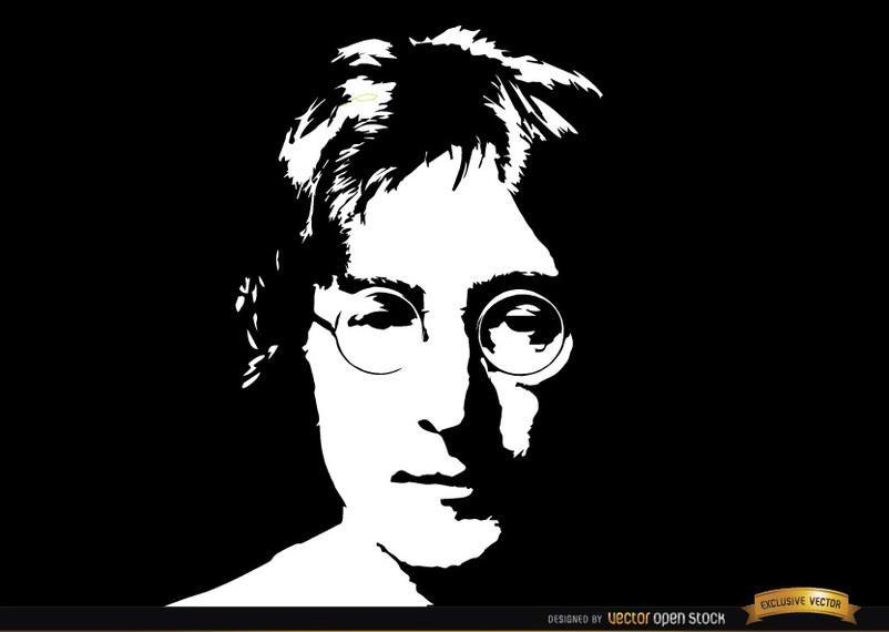 John Lennon face portrait background