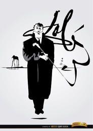 Firma de la pintura de Salvador Dalí