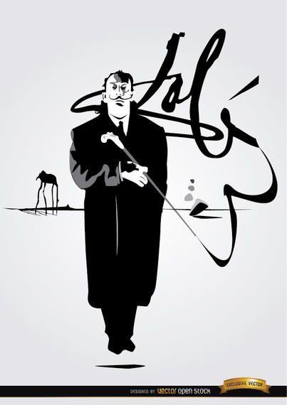 Salvador Dali painting signature