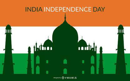 Fundo colorido indiano dia independente