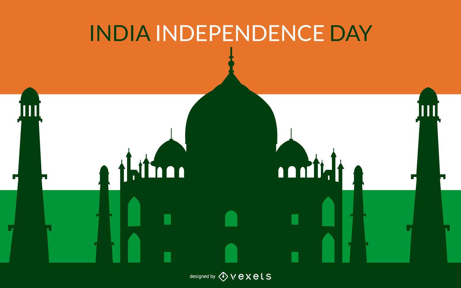 Fondo colorido del día independiente indio