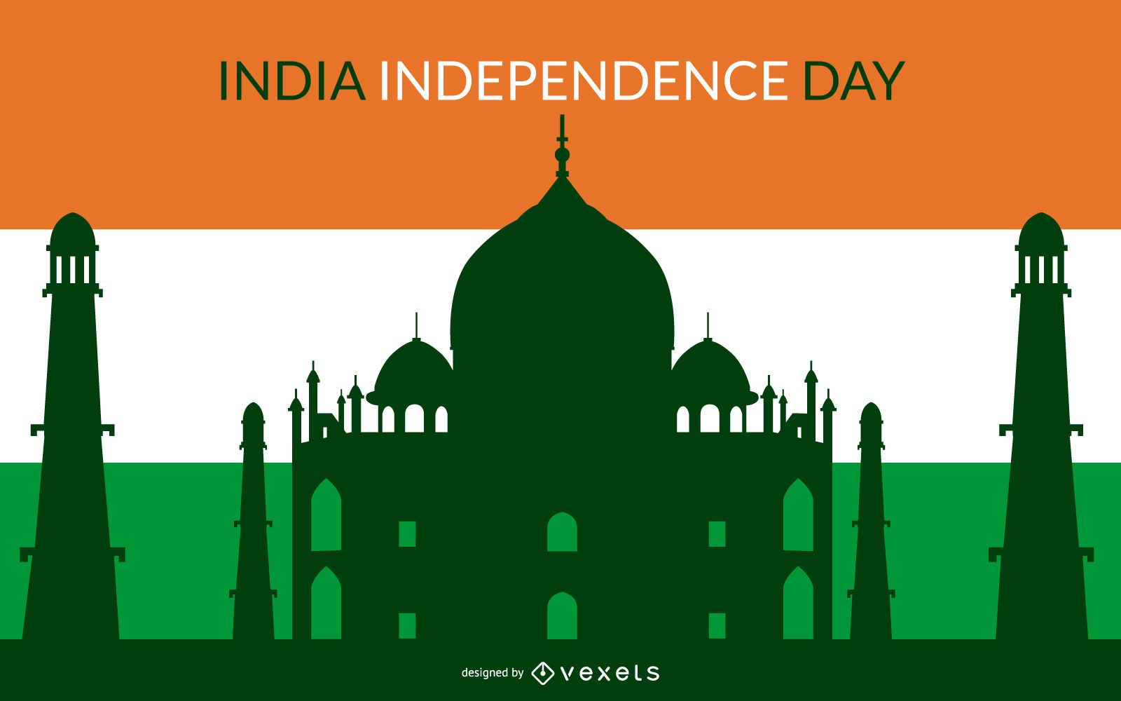 Indian Independent Day Colorful Background