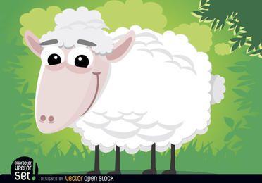 Animal de ovelhas dos desenhos animados