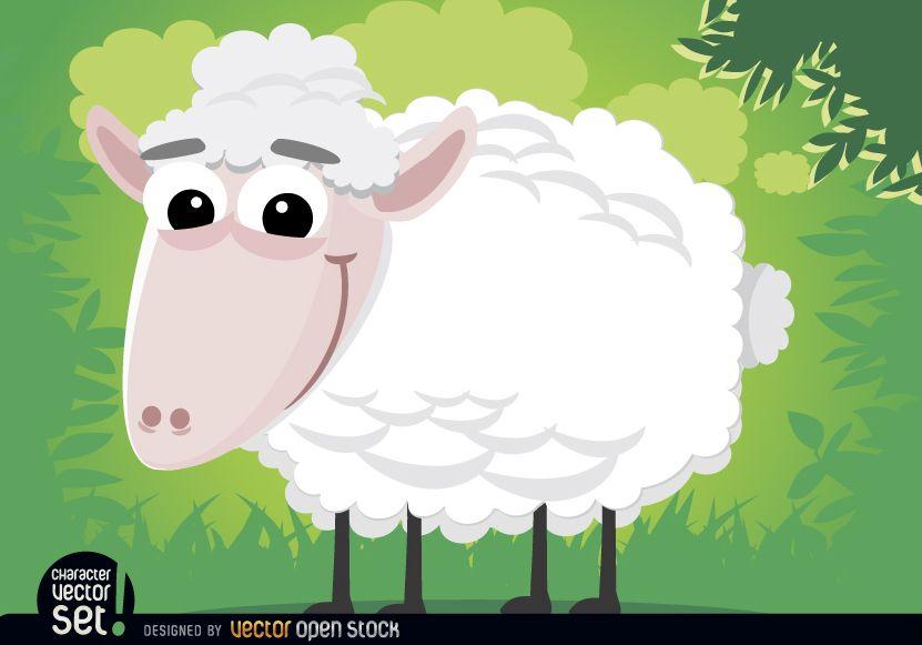 Animal de dibujos animados de ovejas