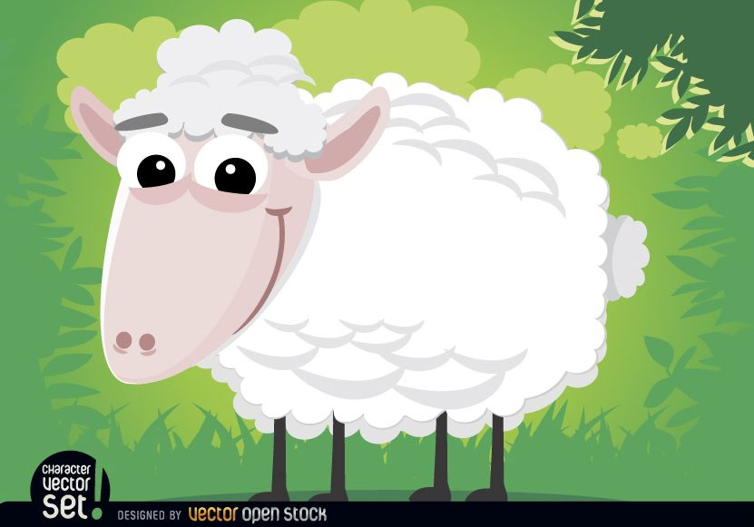 Schaf-Cartoon-Tier
