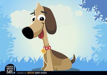 Cão engraçado dos desenhos animados animais
