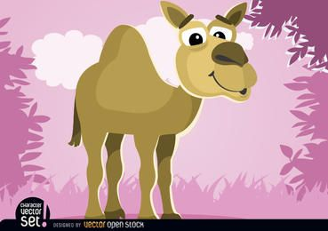 Animal cartoon de camelo
