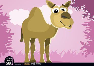 Animal dos desenhos animados de camelo