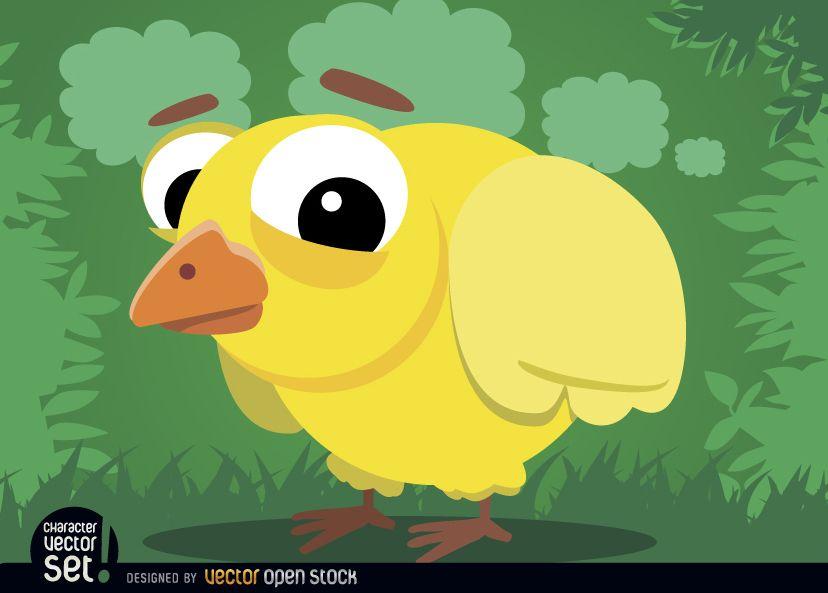 Animal de desenho animado de frango bebê