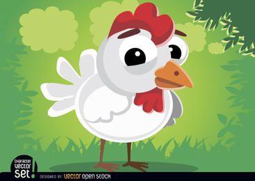 Lindo gallina de la historieta de los animales