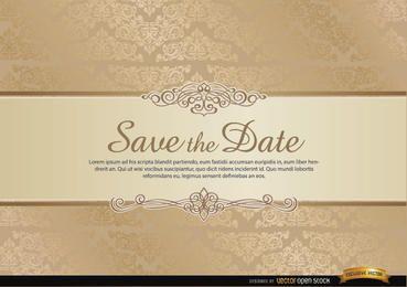 Besondere Einladungskarte mit floralen Ornamenten