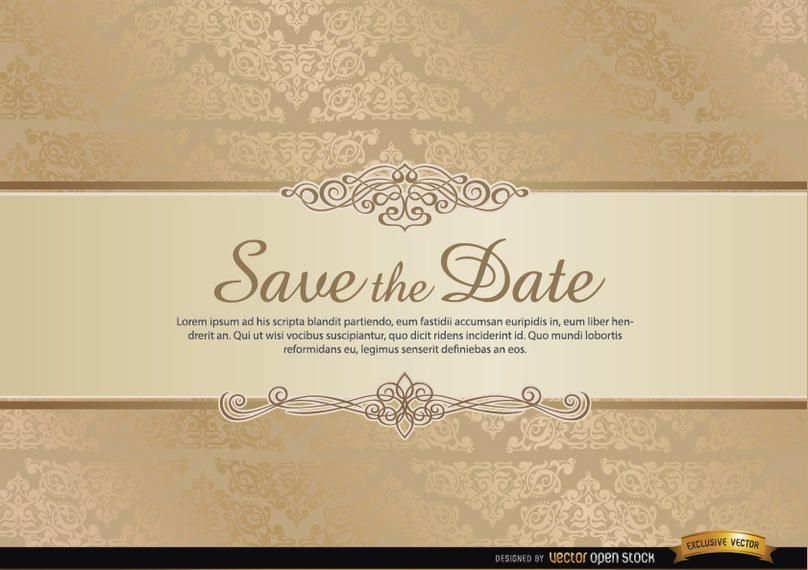 Special invitation card with floral ornaments
