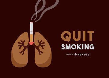 Antecedentes médicos de los pulmones ardiente del cigarrillo