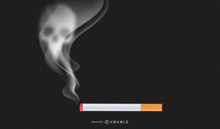 Dejar de fumar cigarrillos con calavera ahumada