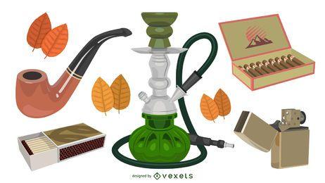 Conjunto de equipamento de fumar elegante