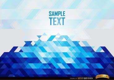 Fundo abstrato azul polígonos