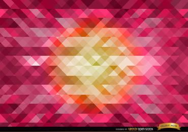 Laranja no centro de fundo poligonal rosa