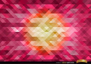Orange im mittleren rosa polygonalen Hintergrund