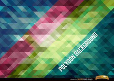 Schräger Hintergrund der polygonalen Streifen