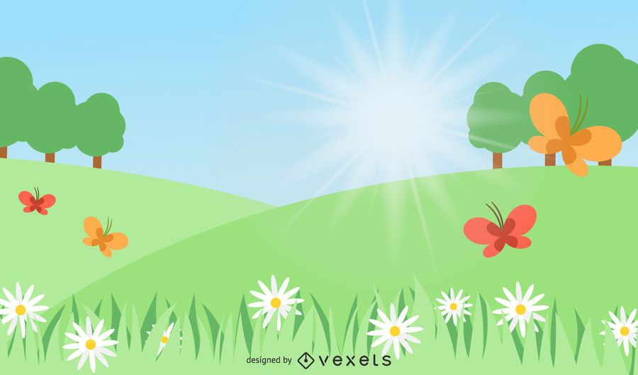 Summer Day Nature Background