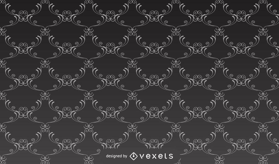 Seamless Ancient Damask Pattern Background