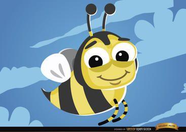 Bug voador de abelha dos desenhos animados