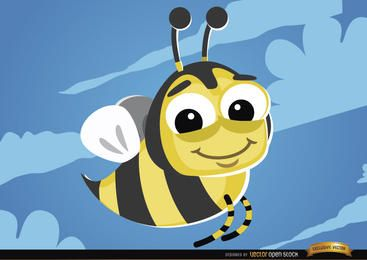 Cartoon Bee flying bug