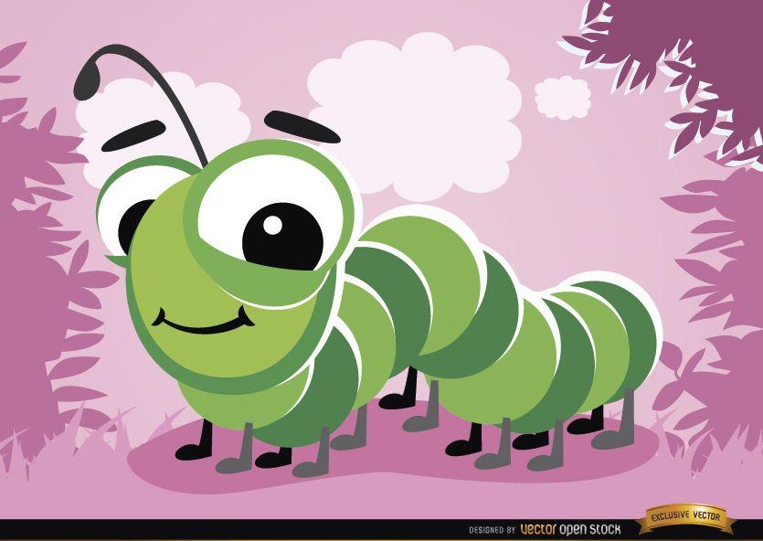 Error de Caterpillar de dibujos animados