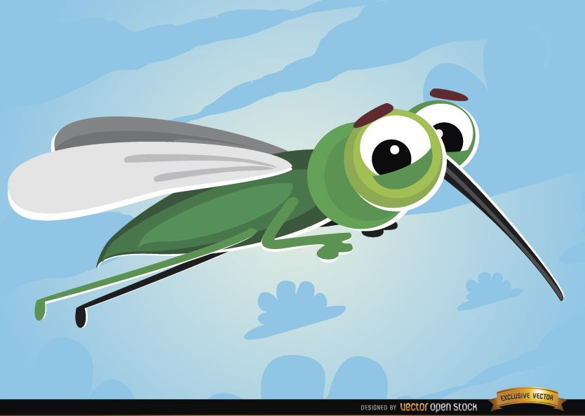 Insecto volador Mosquito de dibujos animados