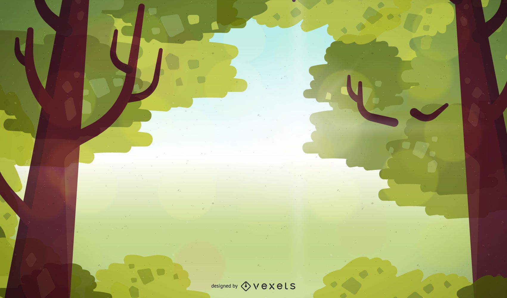 Tree Branch Frame with Sunlight Background