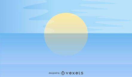 Praia de mar de verão abstrata com céu azul