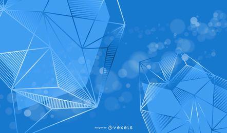 Fundo de triângulos brilhantes 3D criativo