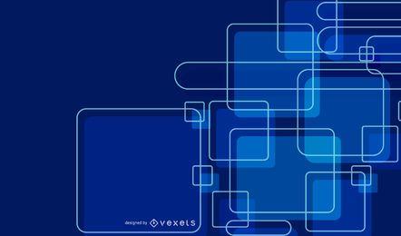 Abstrakt leuchtend blau überlappende Quadrate Hintergrund