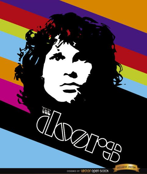 Jim Morrison Doors color stripes poster  sc 1 st  Vexels & Jim Morrison Doors color stripes poster - Vector download