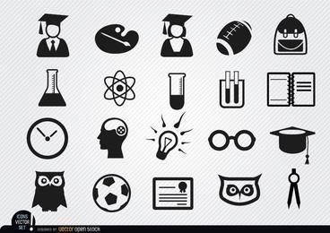 Iconos de la escuela Académicos establecen