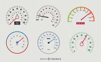 Pacote de velocímetro digital e analógico para automóveis