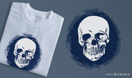 3 esboçado enfrenta o t-shirt do crânio