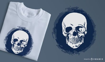 Sketchy 3 Faces Skull T-Shirt