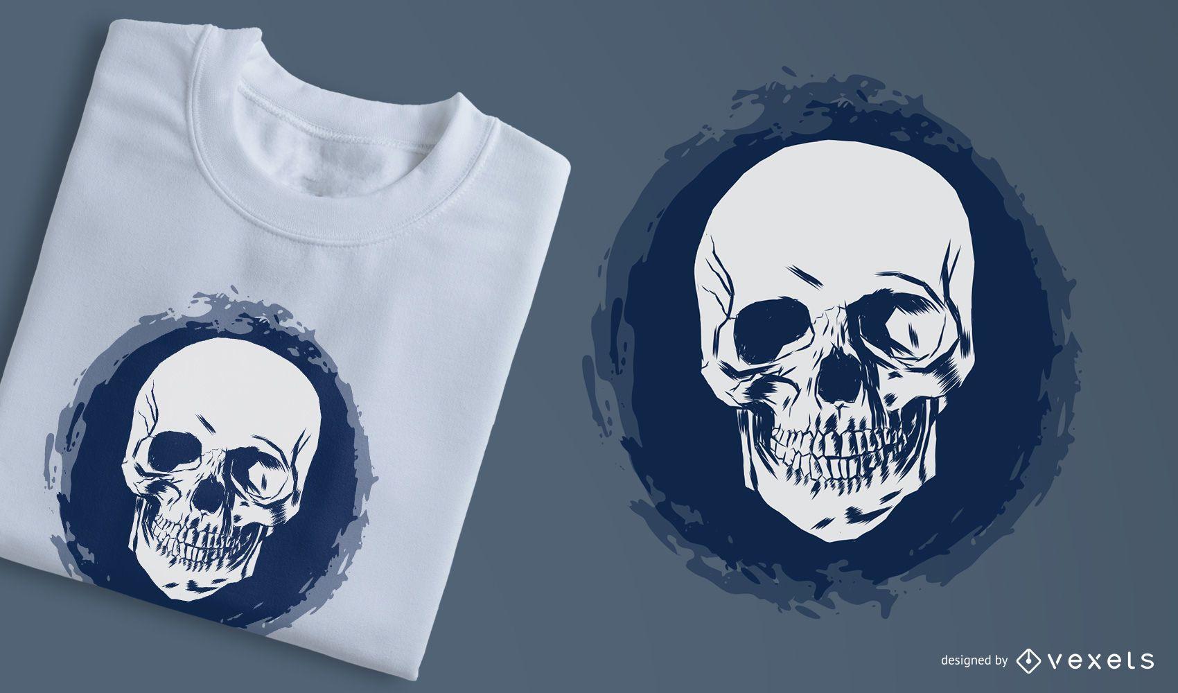 Sketchy 3 Faces Skull camiseta