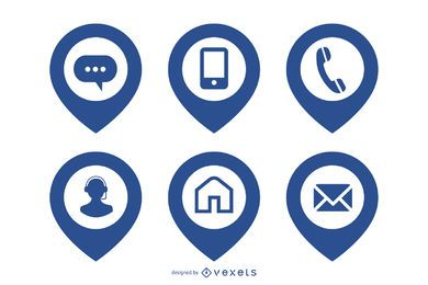 Simplistic Web Icon Pack with Location Pointer