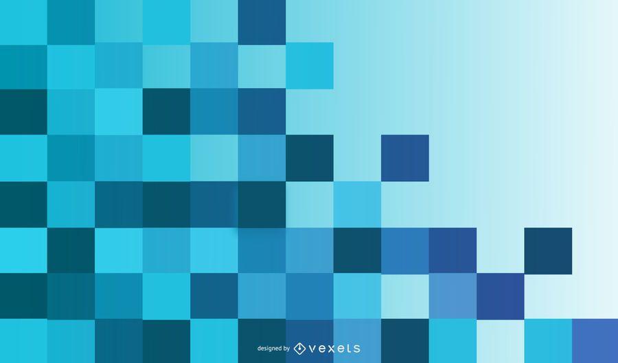 Fondo azul brillante cuadrados desconcertantes