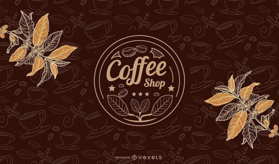 Heißer Kaffeetasse-Hintergrund mit Bohnen