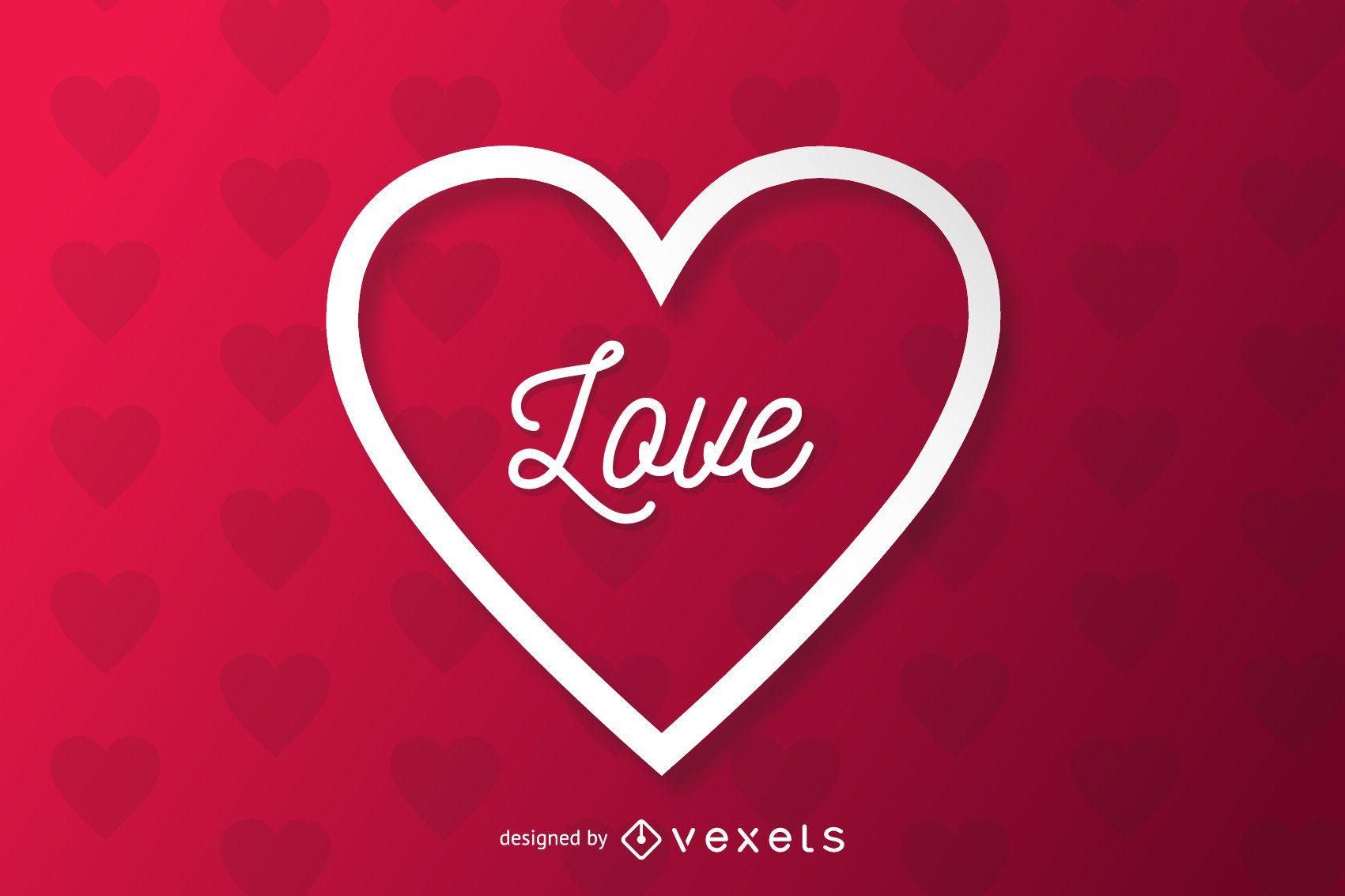 Paper Cut Heart Applique Valentine Background