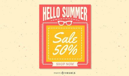 Flyer de compras textual de estilo Funky criativo