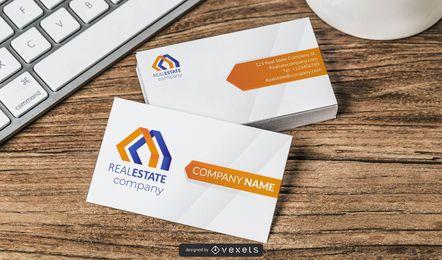 Professionelle Visitenkarten für Immobilien auf der Vorder- und Rückseite