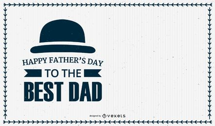 Father?s Day Flyer Template with Stripy Background