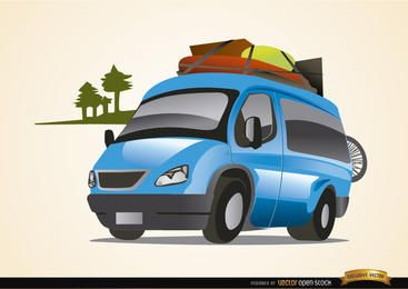Van auto traveling vacations