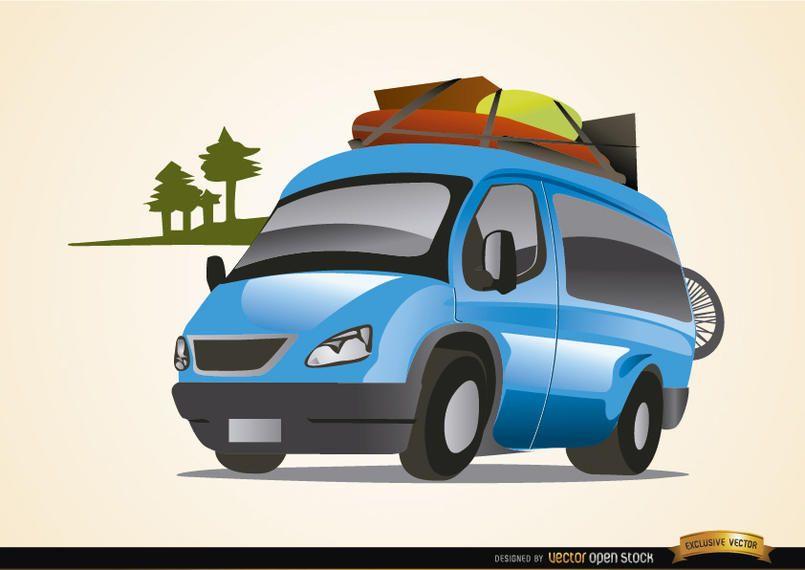 Van auto viajando vacaciones
