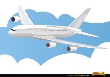 Flugzeug in Himmel reisen