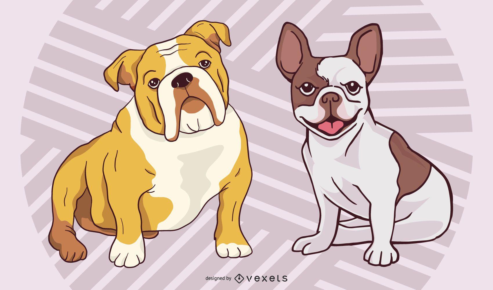 Conjunto Funky Style Breed & Bulldog